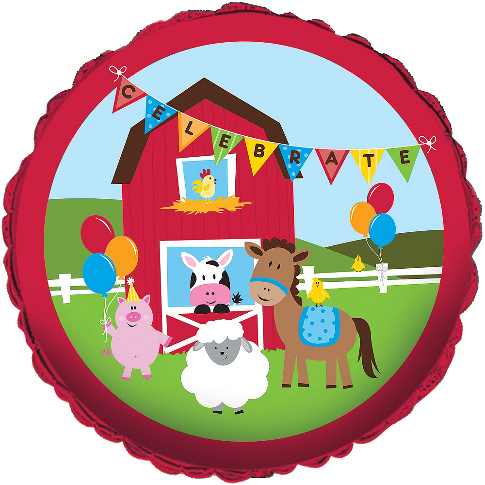 Farmhouse Fun Birthday Balloon Image #1