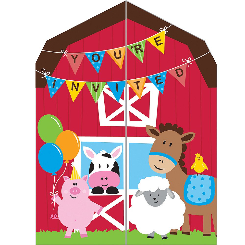 Farmhouse Fun Invitations 8ct Image #1