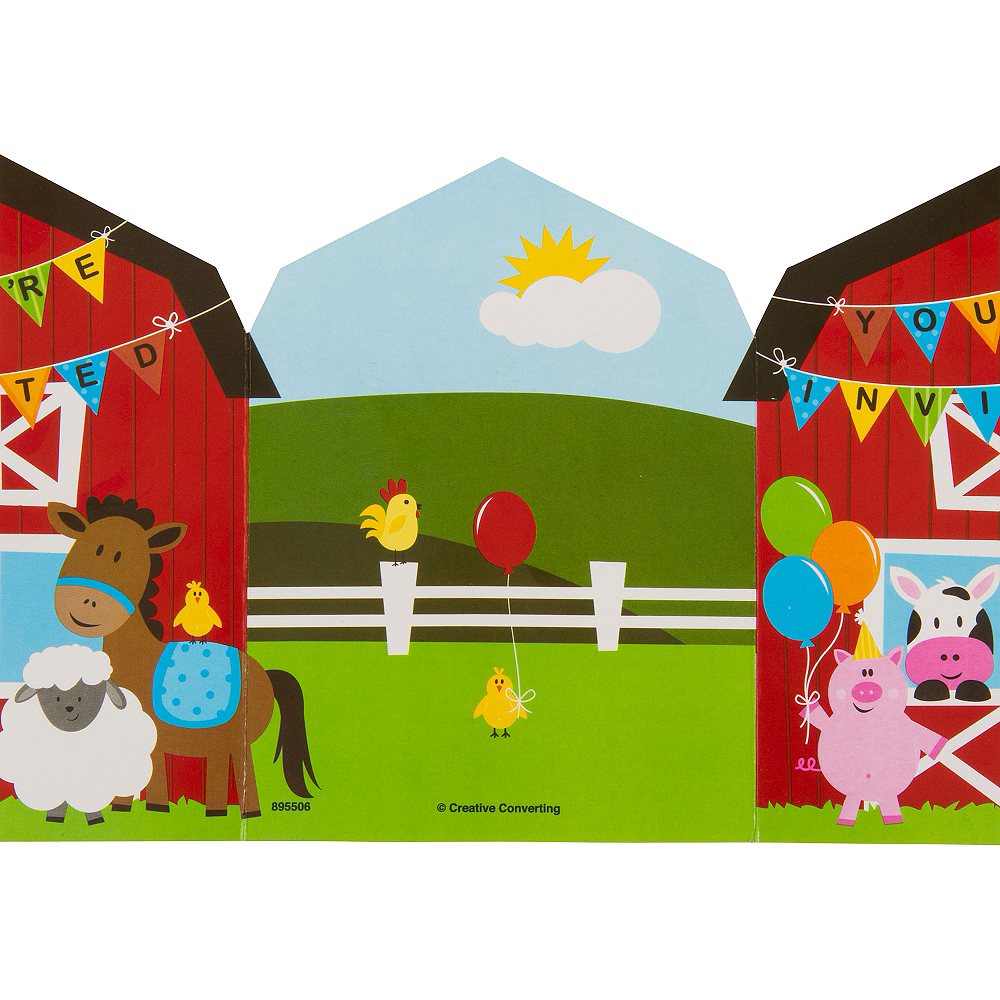 Farmhouse Fun Invitations 8ct Image #4