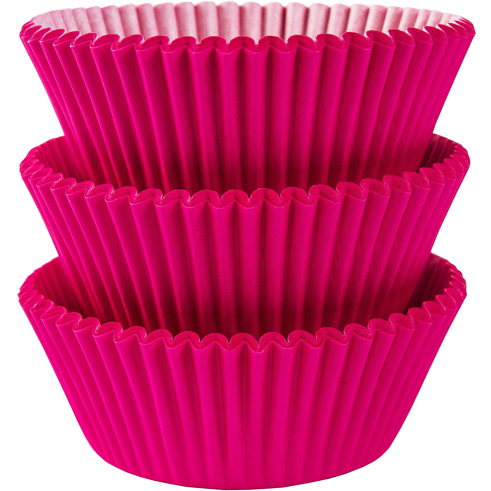 Bright Pink Baking Cups 75ct Image #1