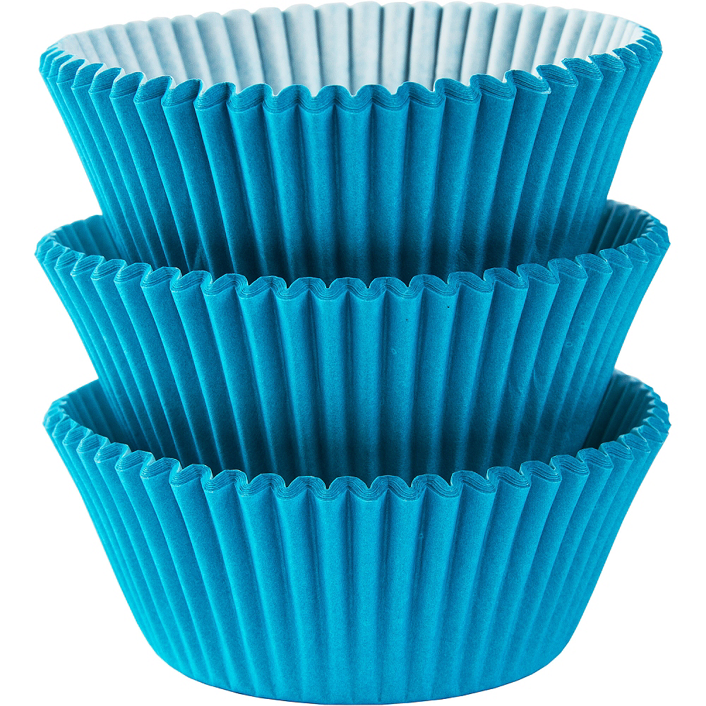Caribbean Blue Baking Cups 75ct Image #1