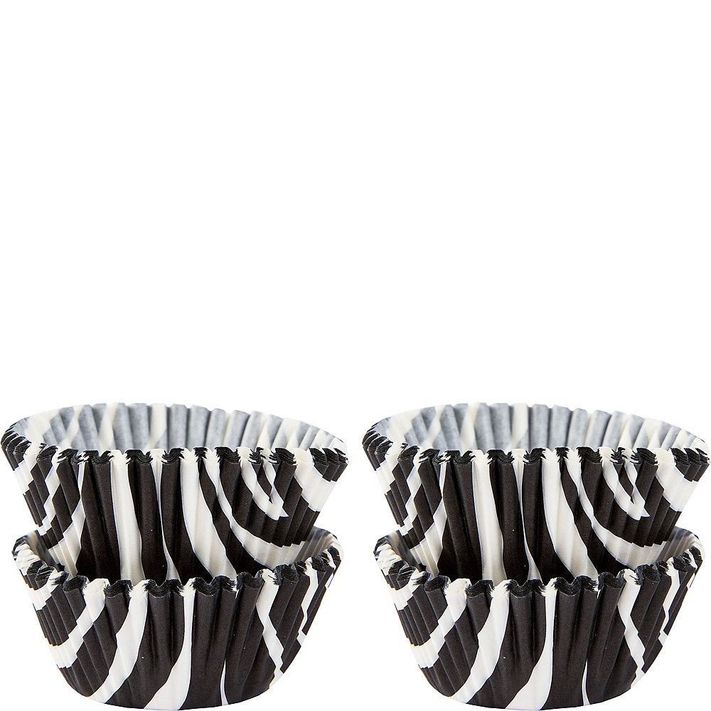 Mini Zebra Print Baking Cups 100ct Image #1