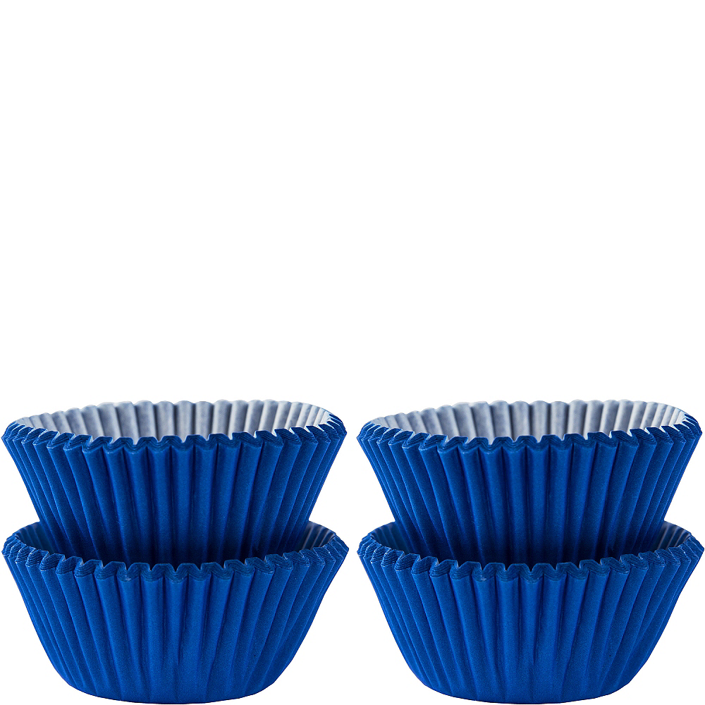 Mini Royal Blue Baking Cups 100ct Image #1