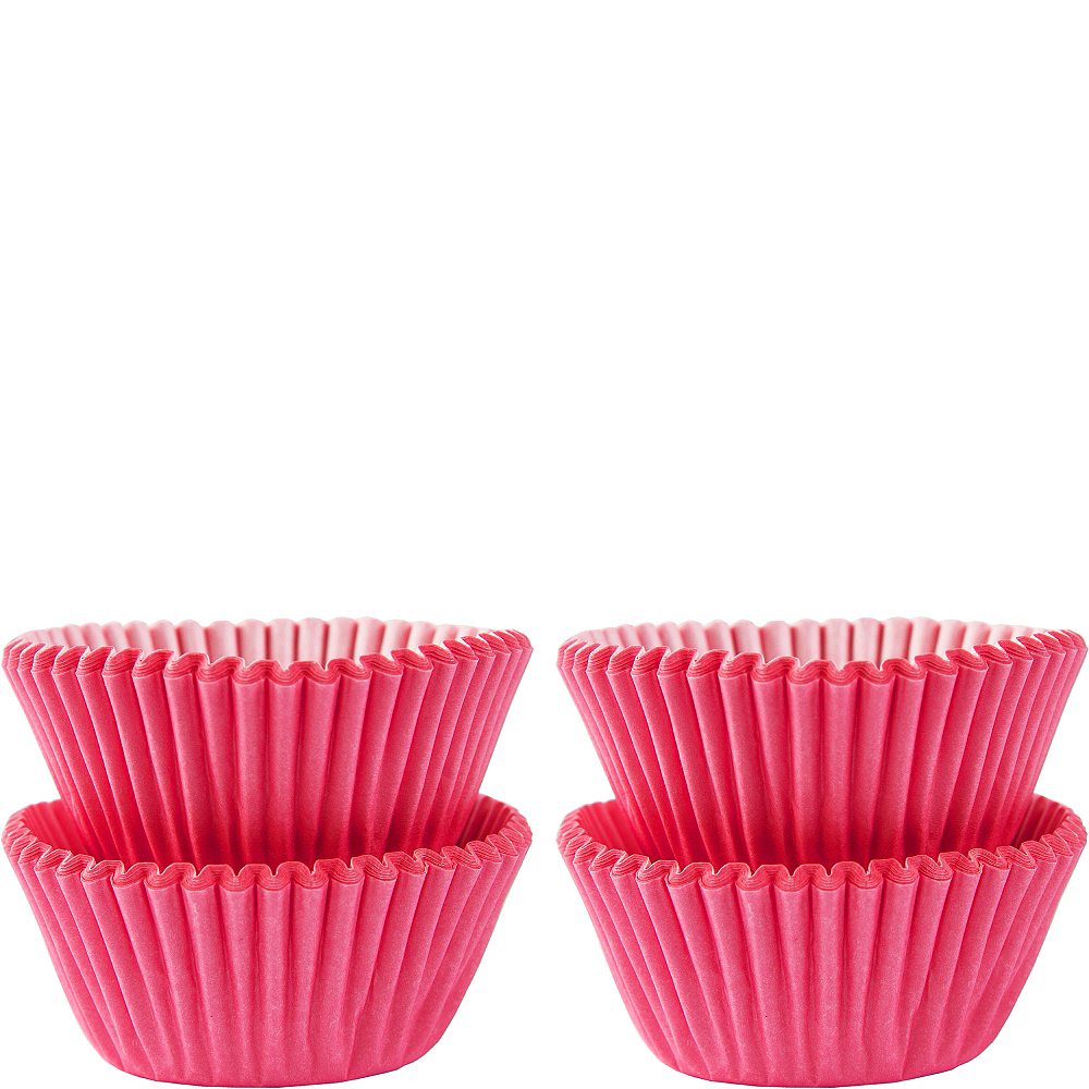 Mini Pink Baking Cups 100ct Image #1