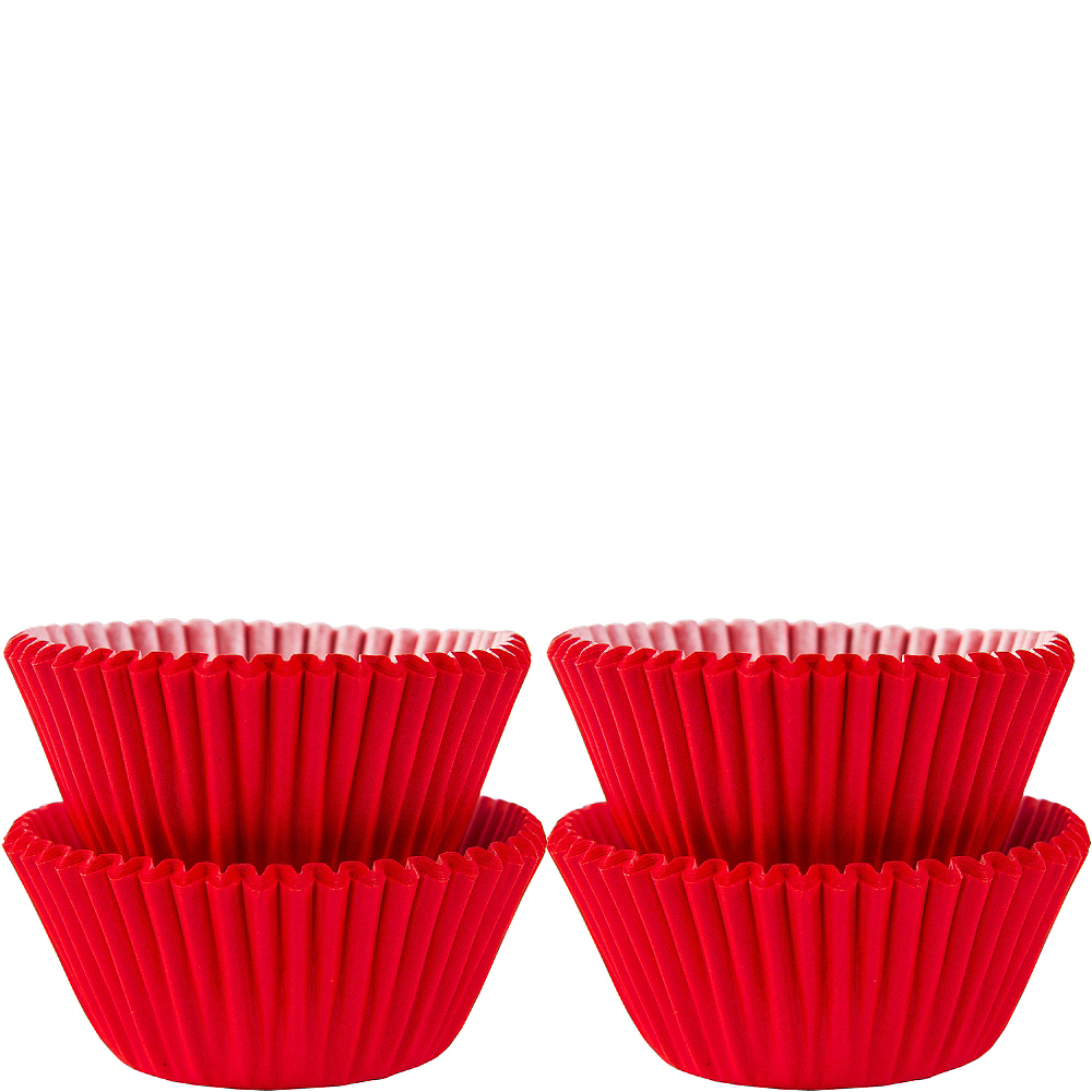 Mini Red Baking Cups 100ct Image #1