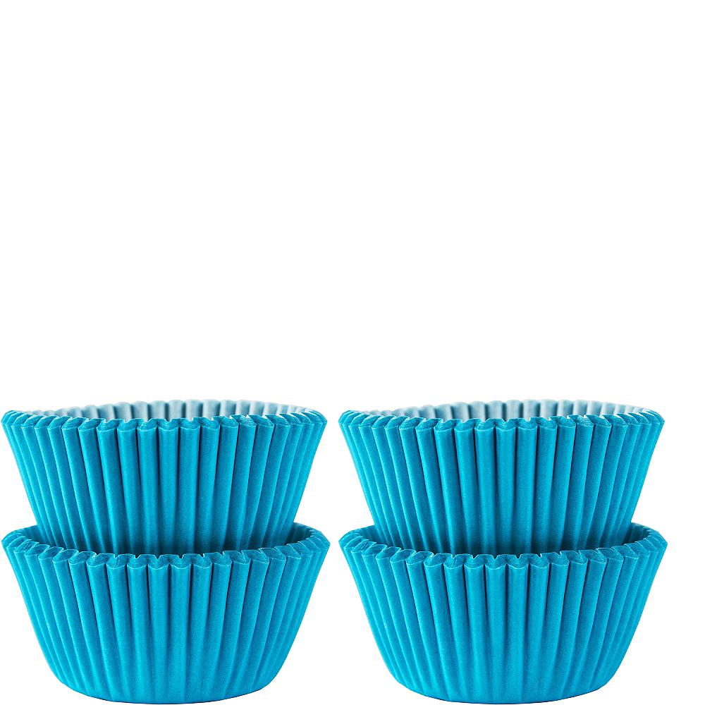 Mini Caribbean Blue Baking Cups 100ct Image #1