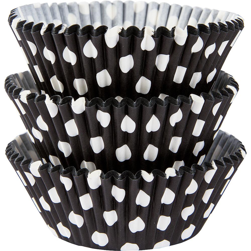 Black Polka Dot Baking Cups 75ct Image #1