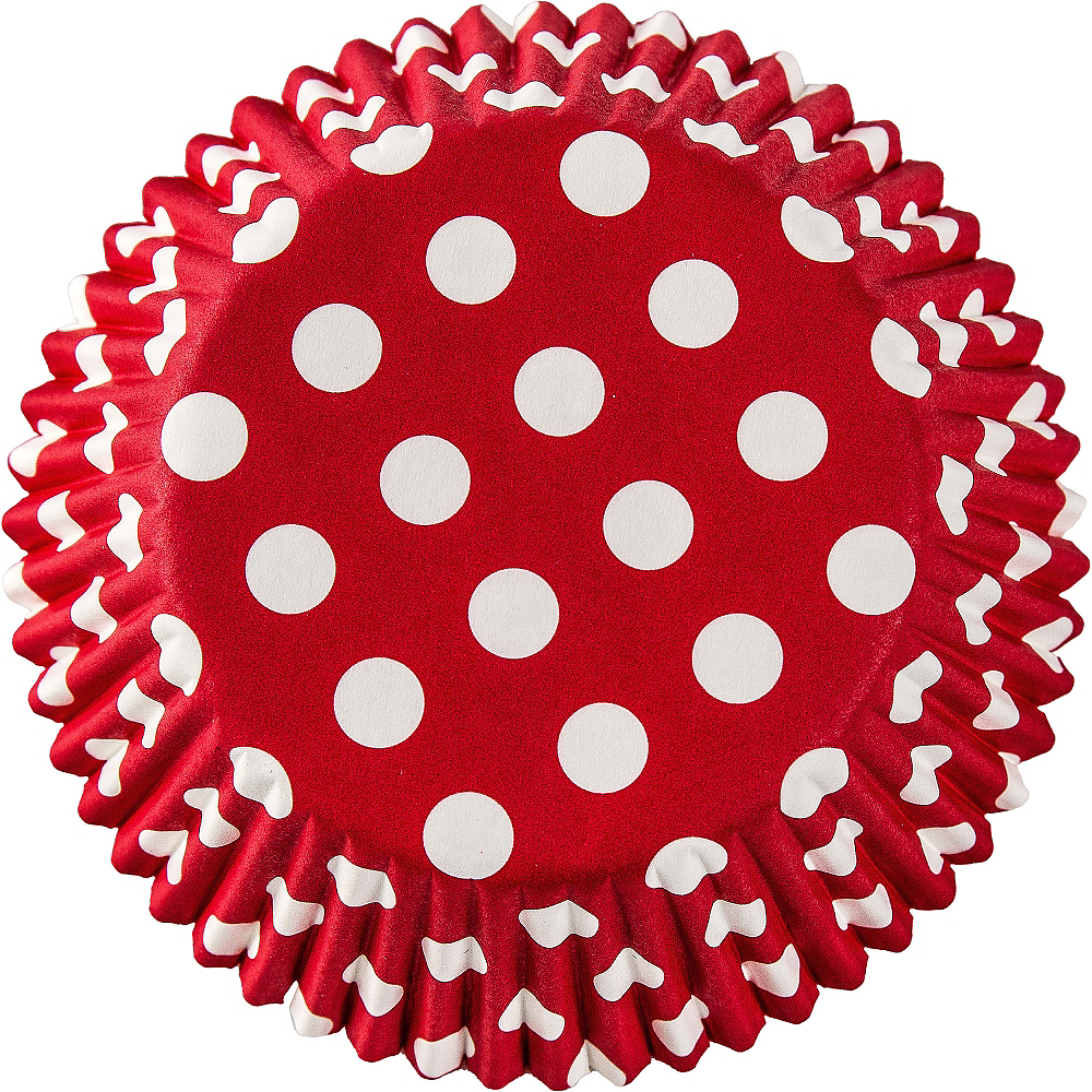 Red Polka Dot Baking Cups 75ct Image #2