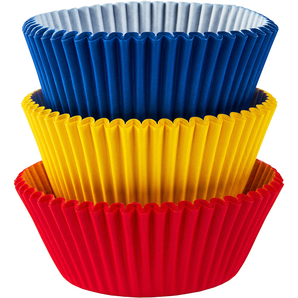 Primary Colors Baking Cups 75ct Image #1