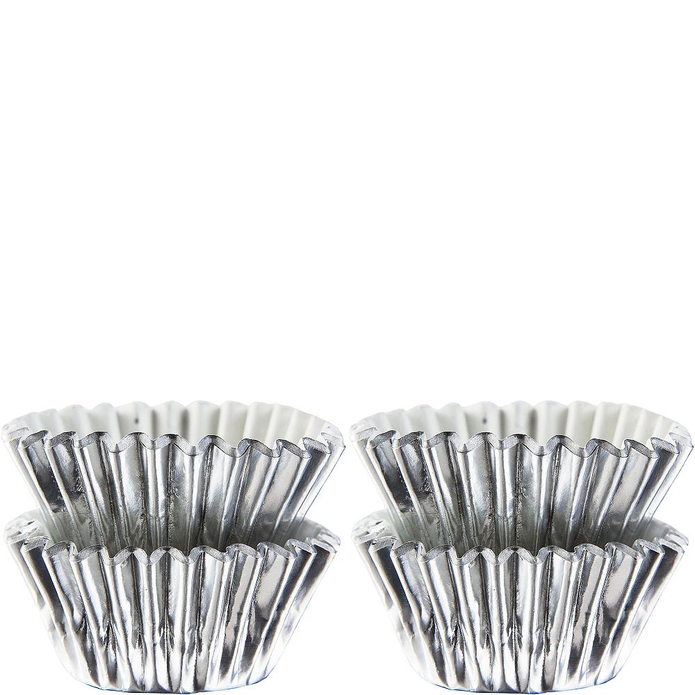 Mini Silver Baking Cups 75ct Image #1
