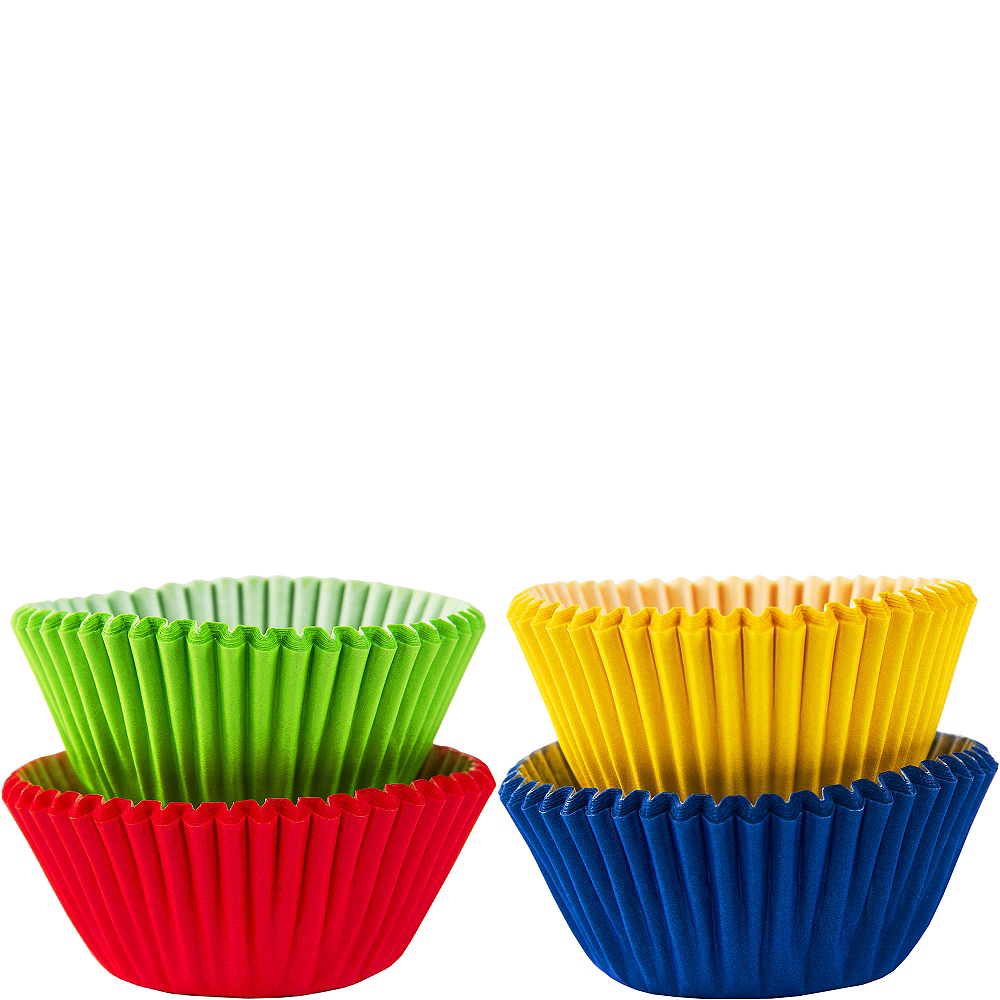 Mini Rainbow Baking Cups 100ct Image #1