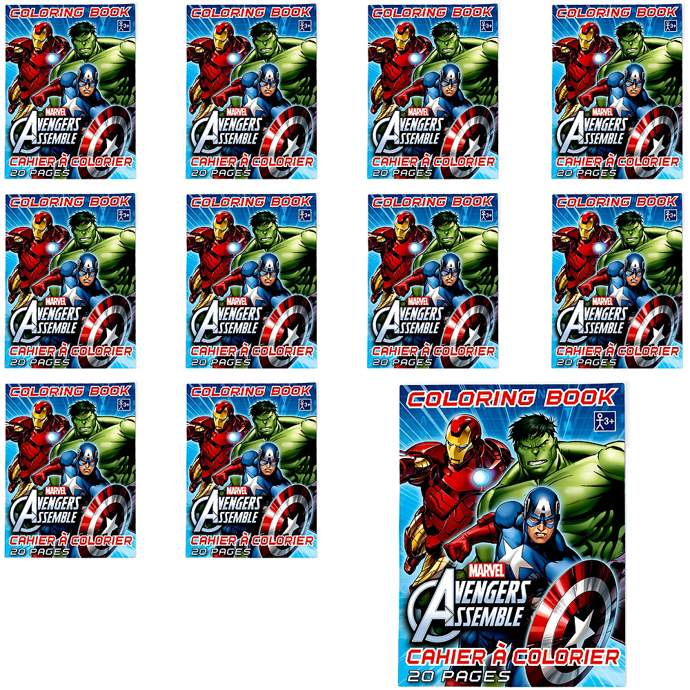 Nav Item for Avengers Coloring Books 48ct Image #1