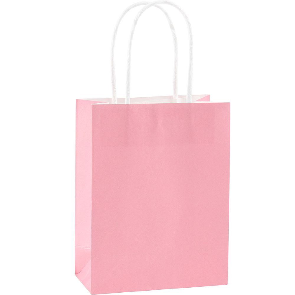 Medium Pink Kraft Bags 10ct Image #1