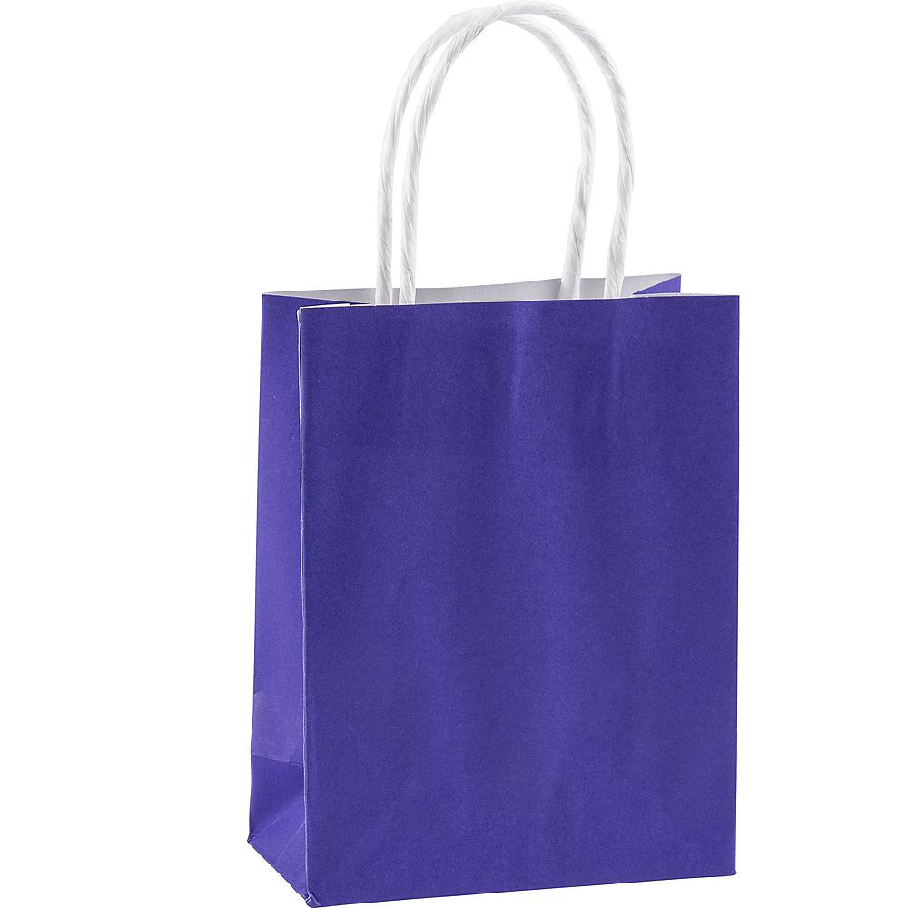 Medium Purple Kraft Bags 10ct Image #1
