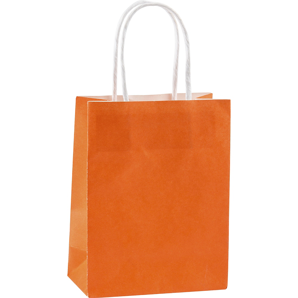 Medium Orange Kraft Bags 10ct Image #1