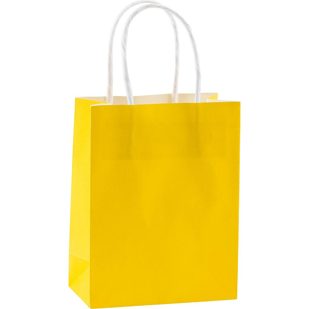 Medium Sunshine Yellow Kraft Bags 10ct Image #1