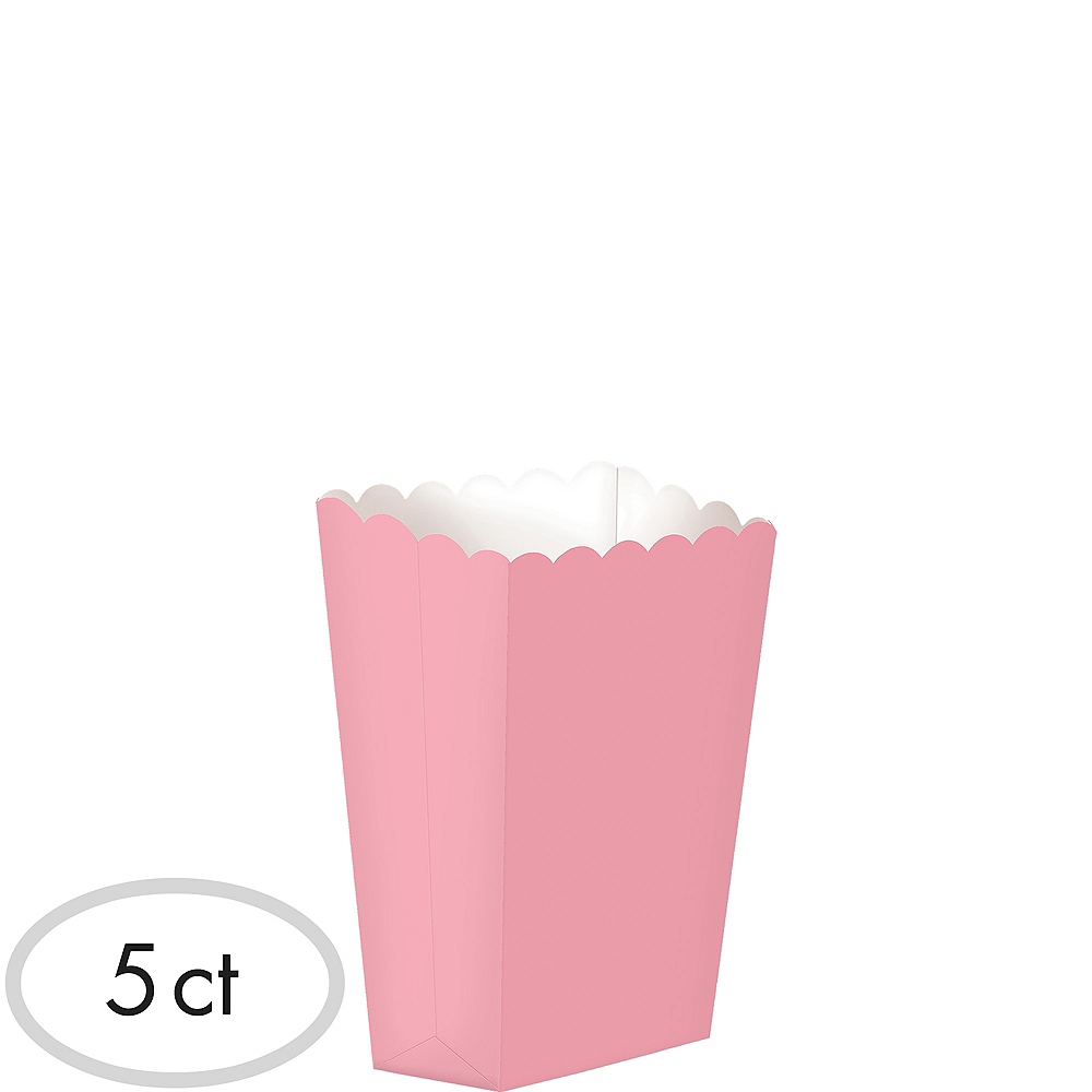Mini Pink Popcorn Treat Boxes 5ct Image #1
