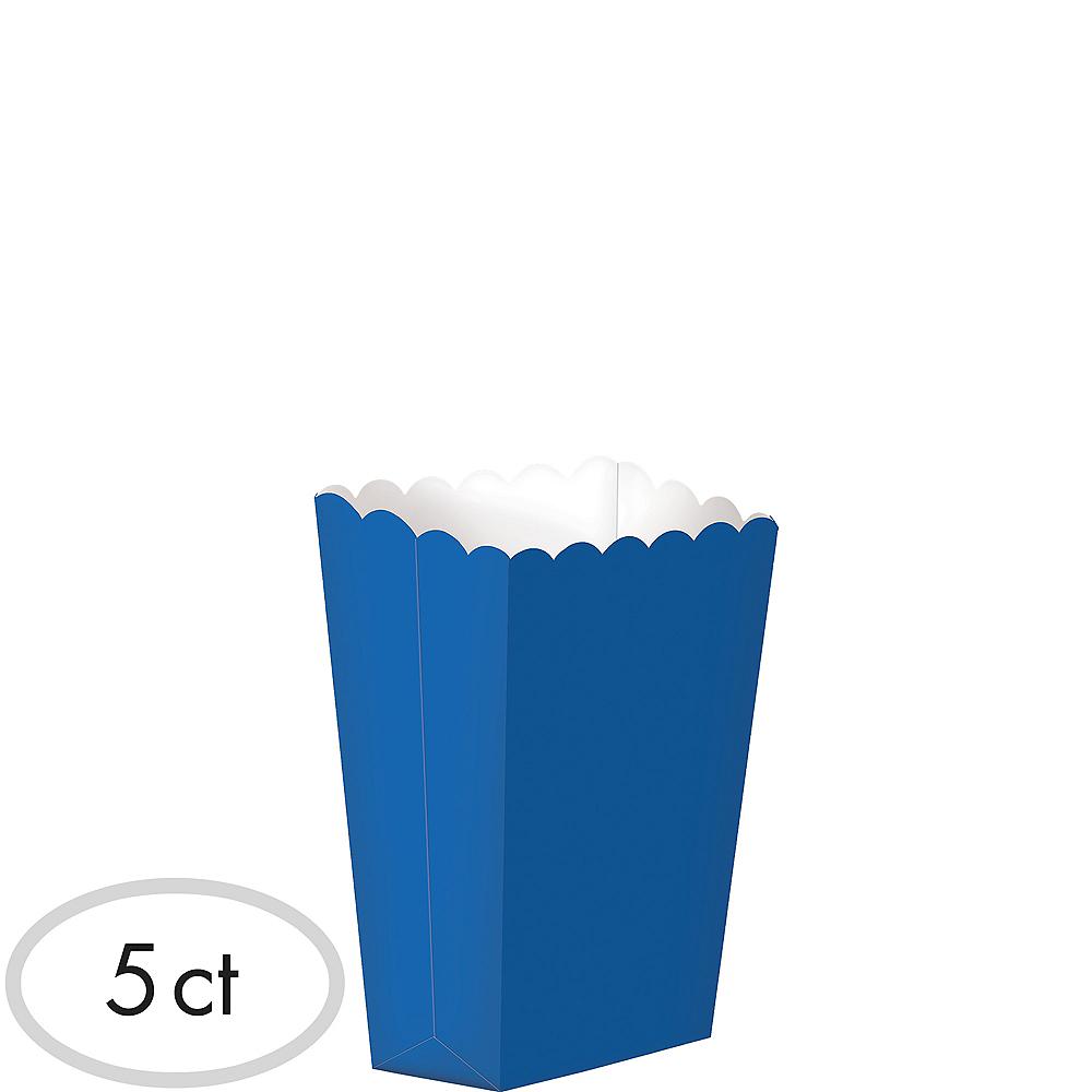 Mini Royal Blue Popcorn Treat Boxes 5ct Image #1