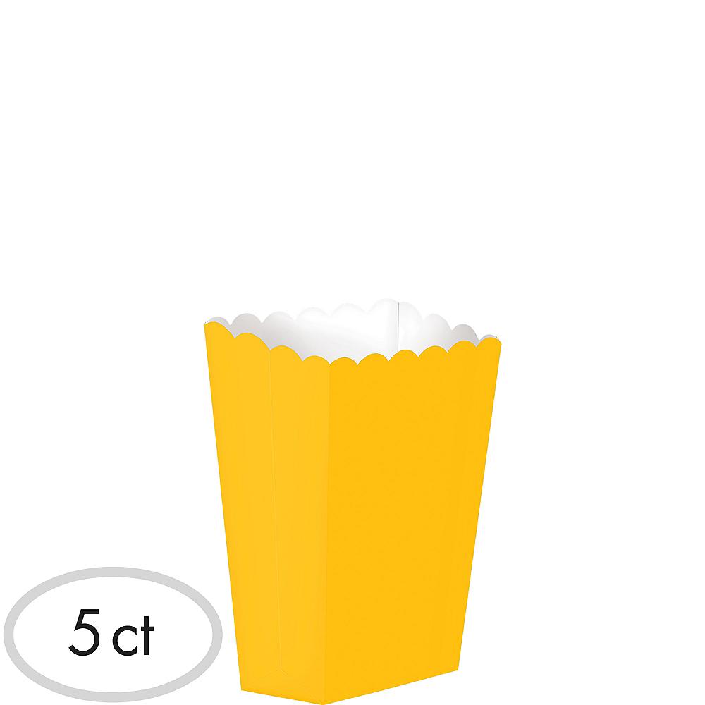Mini Sunshine Yellow Popcorn Treat Boxes 5ct Image #1