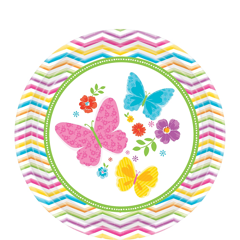 Nav Item for Celebrate Spring Dessert Plates 18ct Image #1