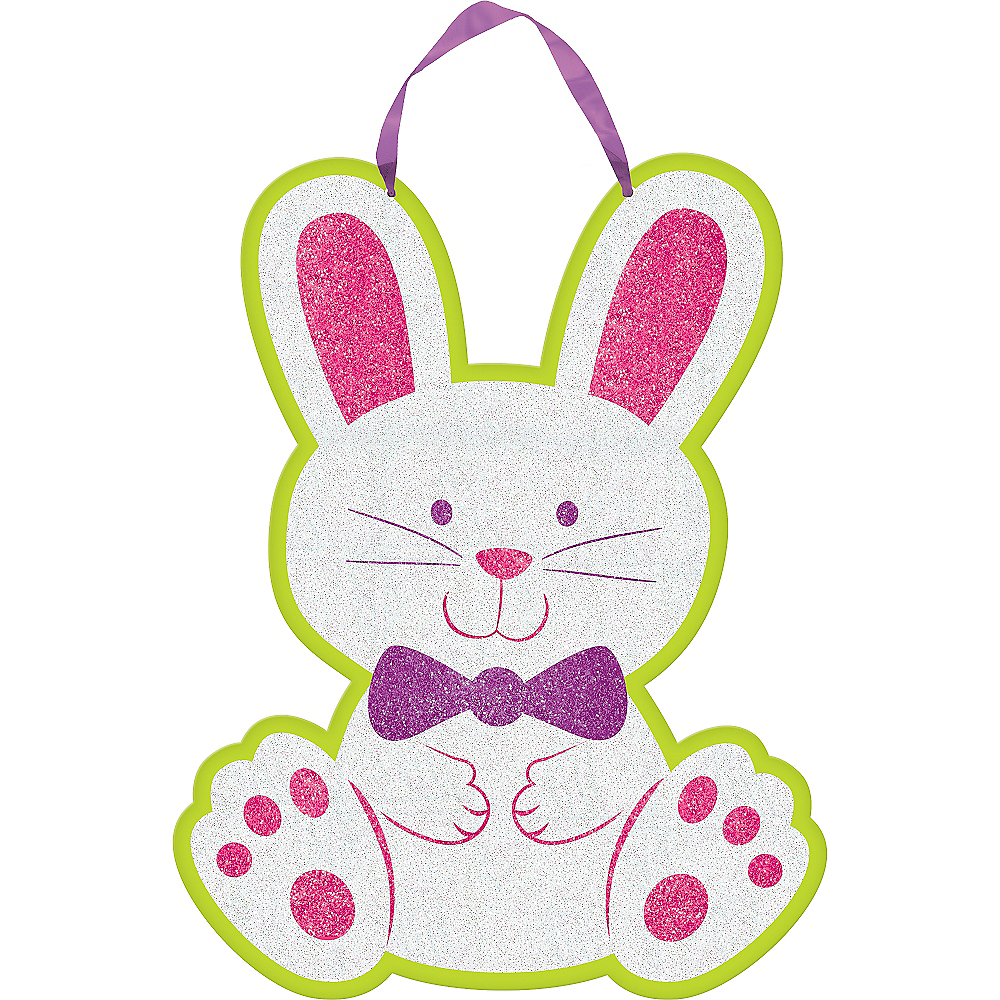 Easter Bunny Glitter Sign Image #1