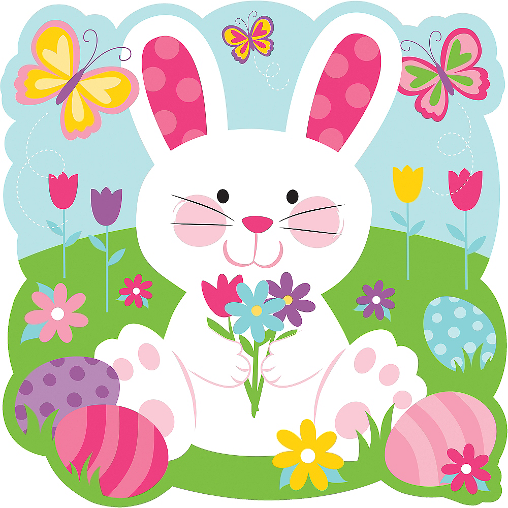 Sitting Easter Bunny Cutout Image #1