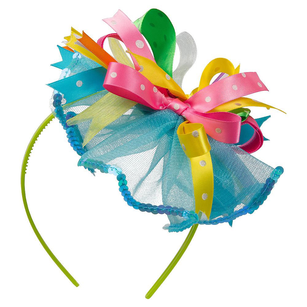 Easter Bow Fascinator Headband Image  1 5ca8fa096b7