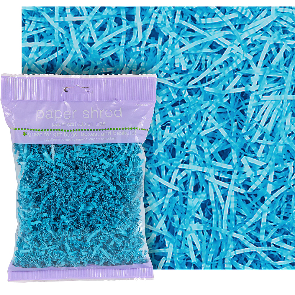 Caribbean Blue Paper Easter Grass Image #1