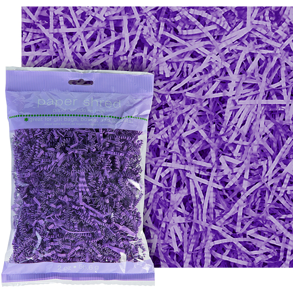 Purple Paper Easter Grass Image #1