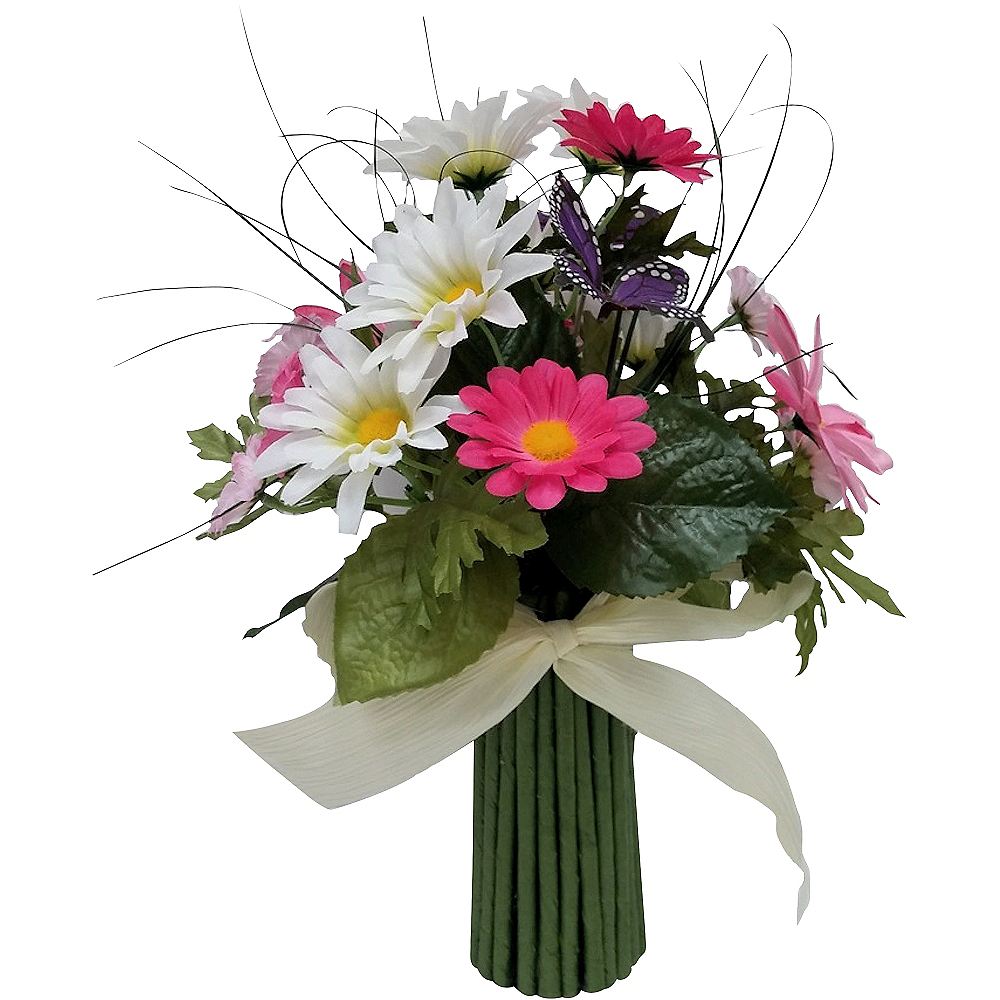 Faux Daisy Bouquet with Butterflies Image #1