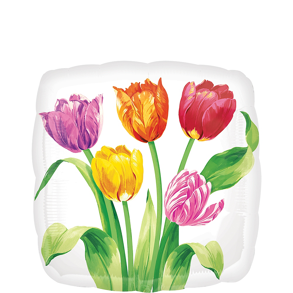 Spring Tulips Balloon, 17in Image #1