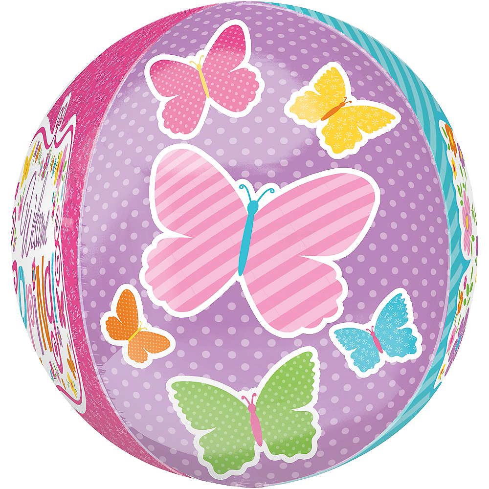 Nav Item for Spring Butterflies Balloon - Orbz, 15in Image #3