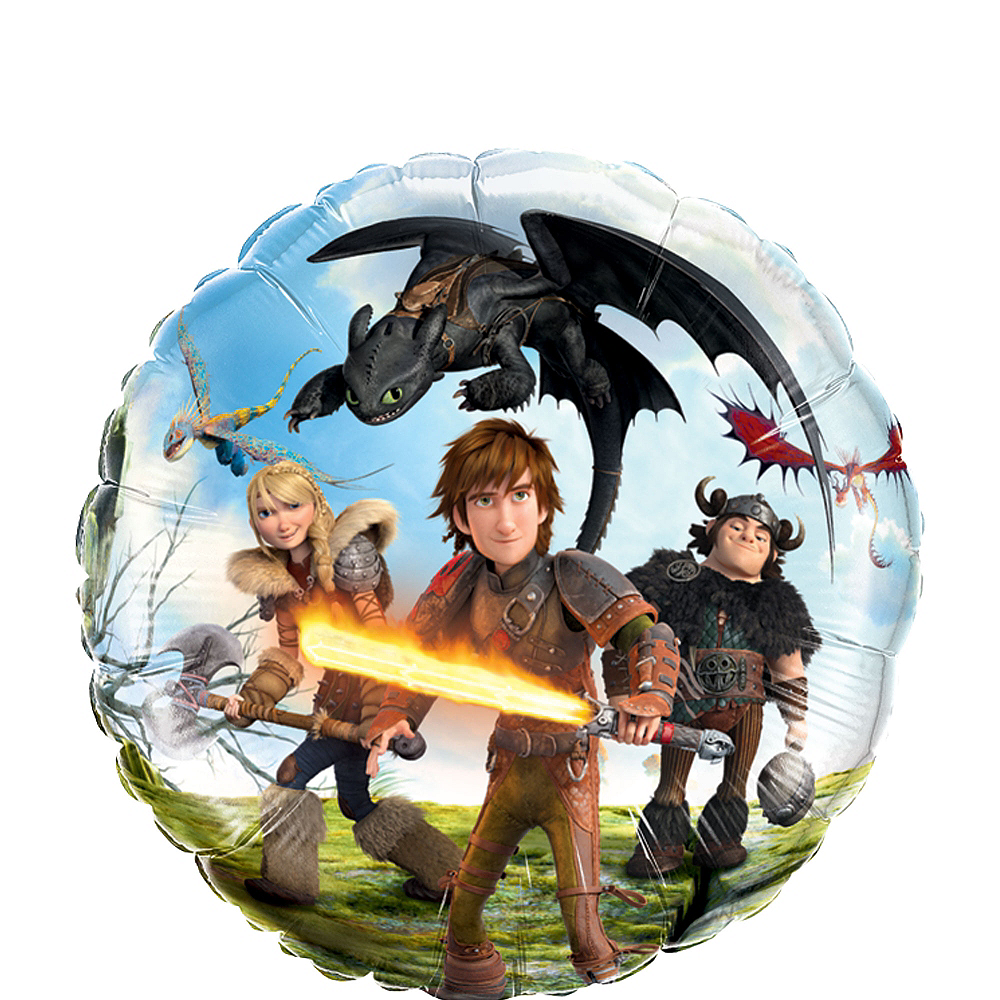 How To Train Your Dragon Balloon - Round, 18in Image #1