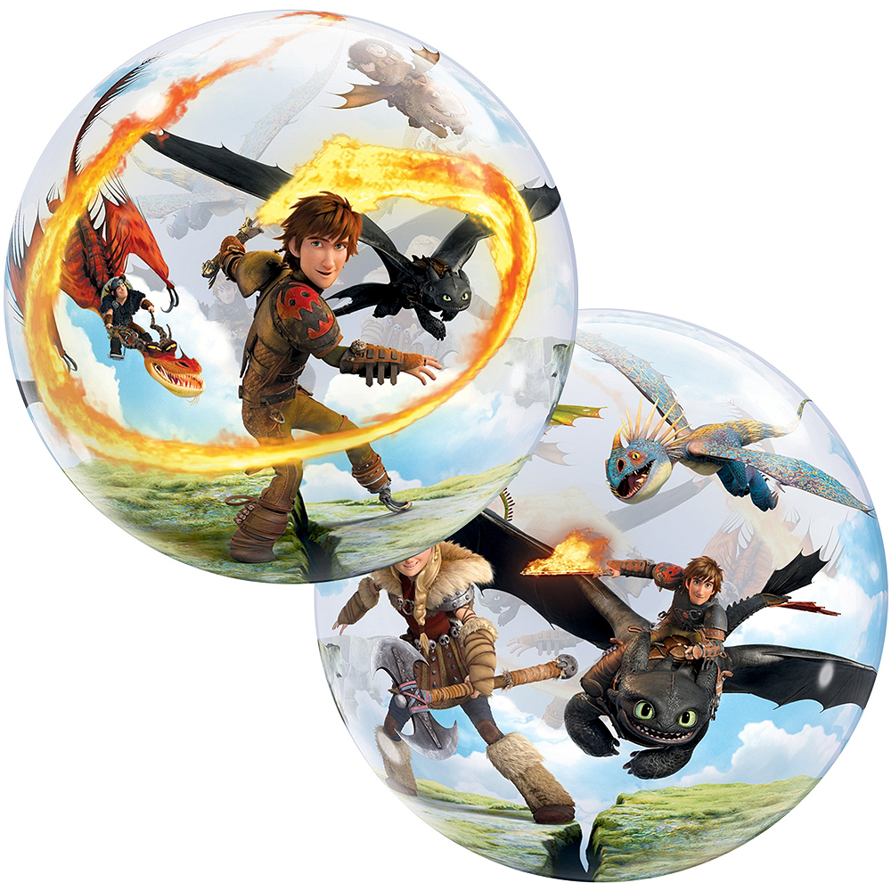 How To Train Your Dragon Balloon - Round Flying Hiccup & Toothless, 22in Image #1