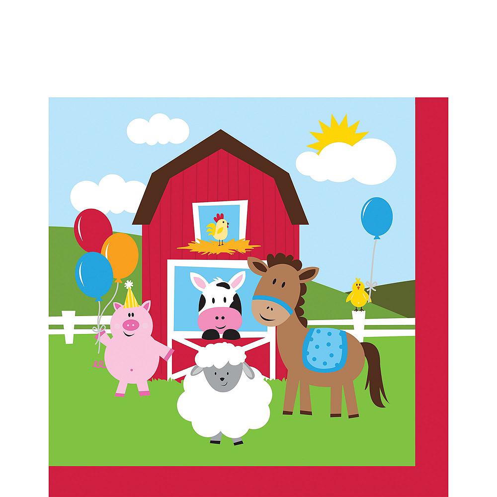 Farmhouse Fun Basic Party Kit for 8 Guests Image #3