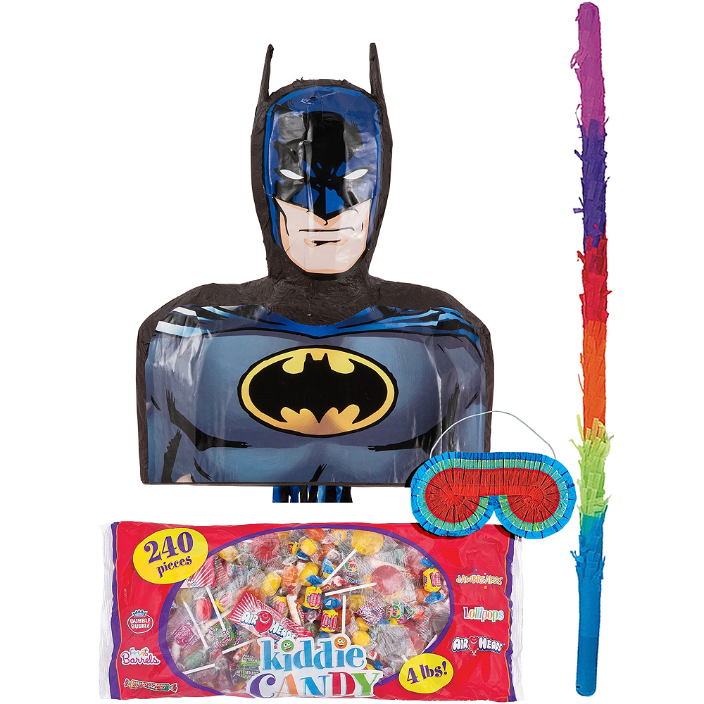 Pull String Batman Pinata Kit Image #1