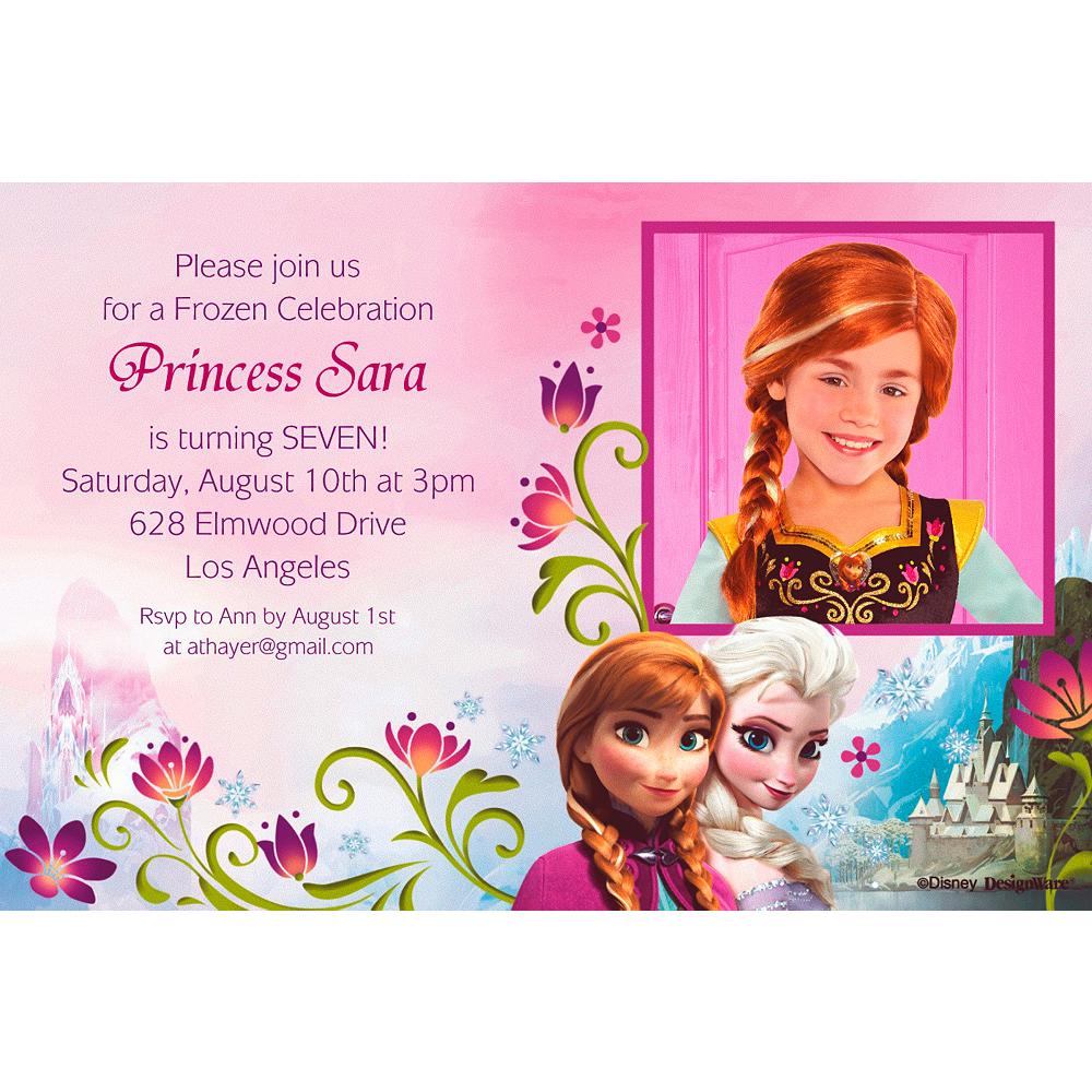 Custom Frozen Photo Invitations Party City