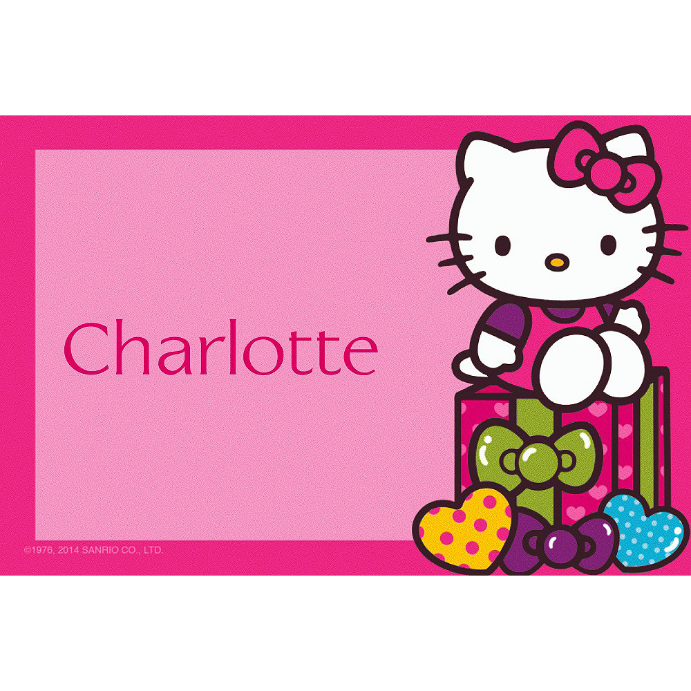 Custom Hello Kitty Rainbow Thank You Notes Image #1