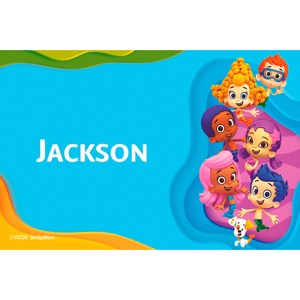 Custom Bubble Guppies Thank You Notes Image #1