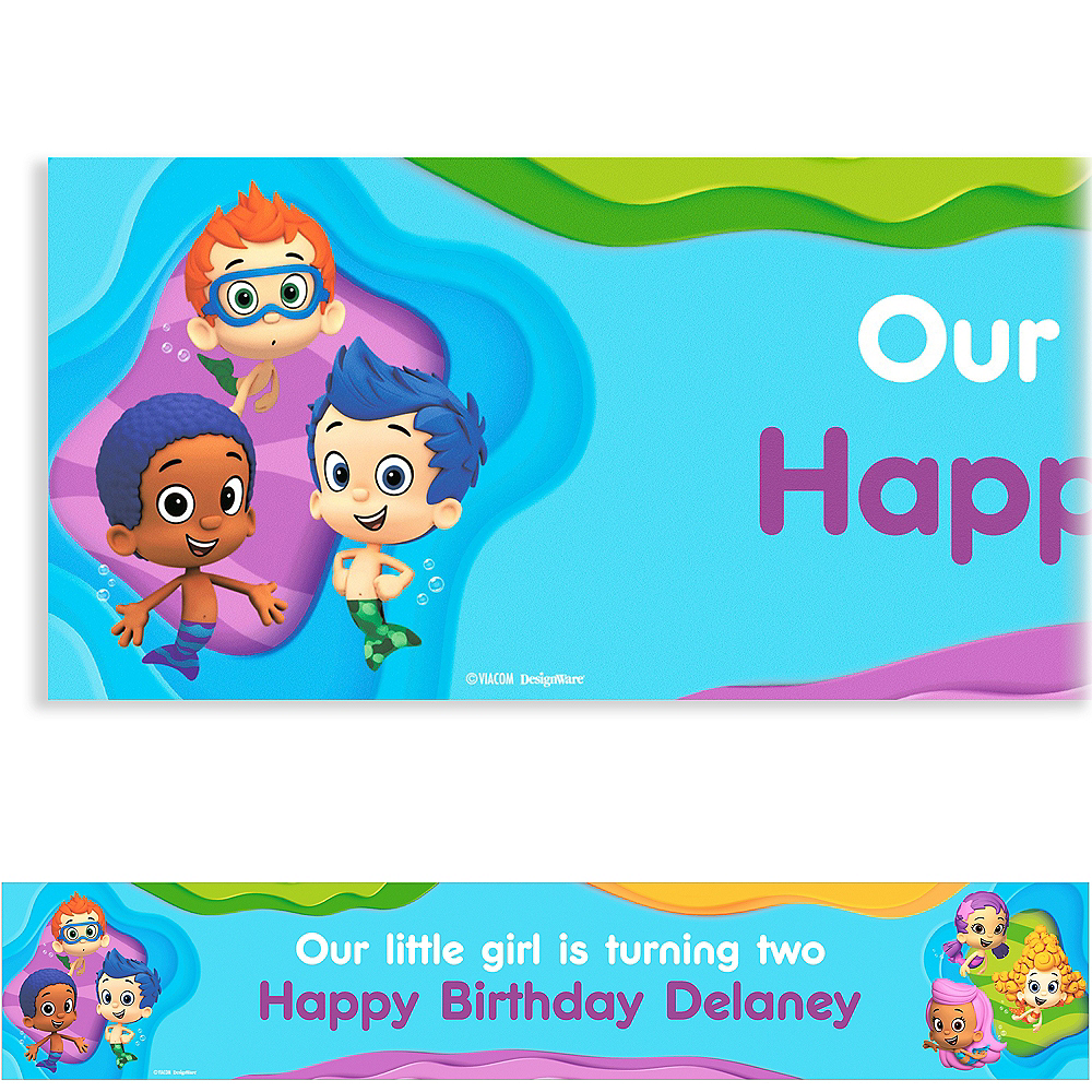 Custom Bubble Guppies Banner 6ft Party City