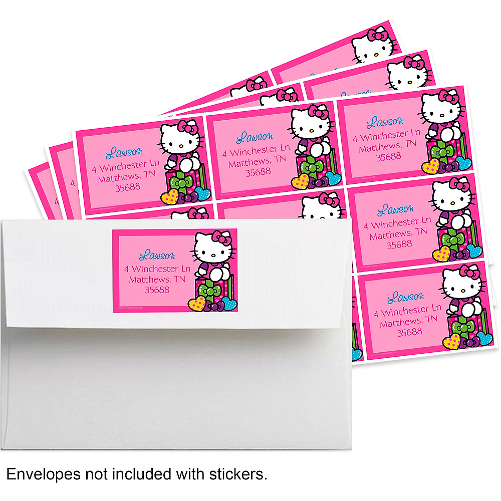 Custom Hello Kitty Rainbow Sticker Image #1