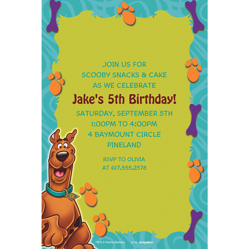 Custom Scooby-Doo Where Are You! Invitations Image #1
