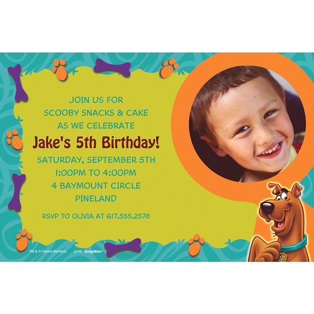 Custom Scooby-Doo Where Are You! Photo Invitations Image #1