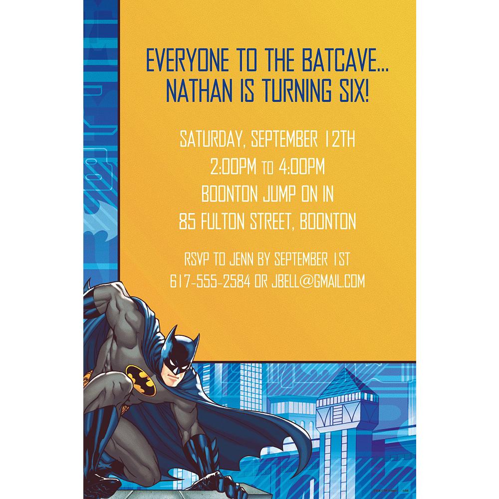 Custom Batman Invitations Image 1