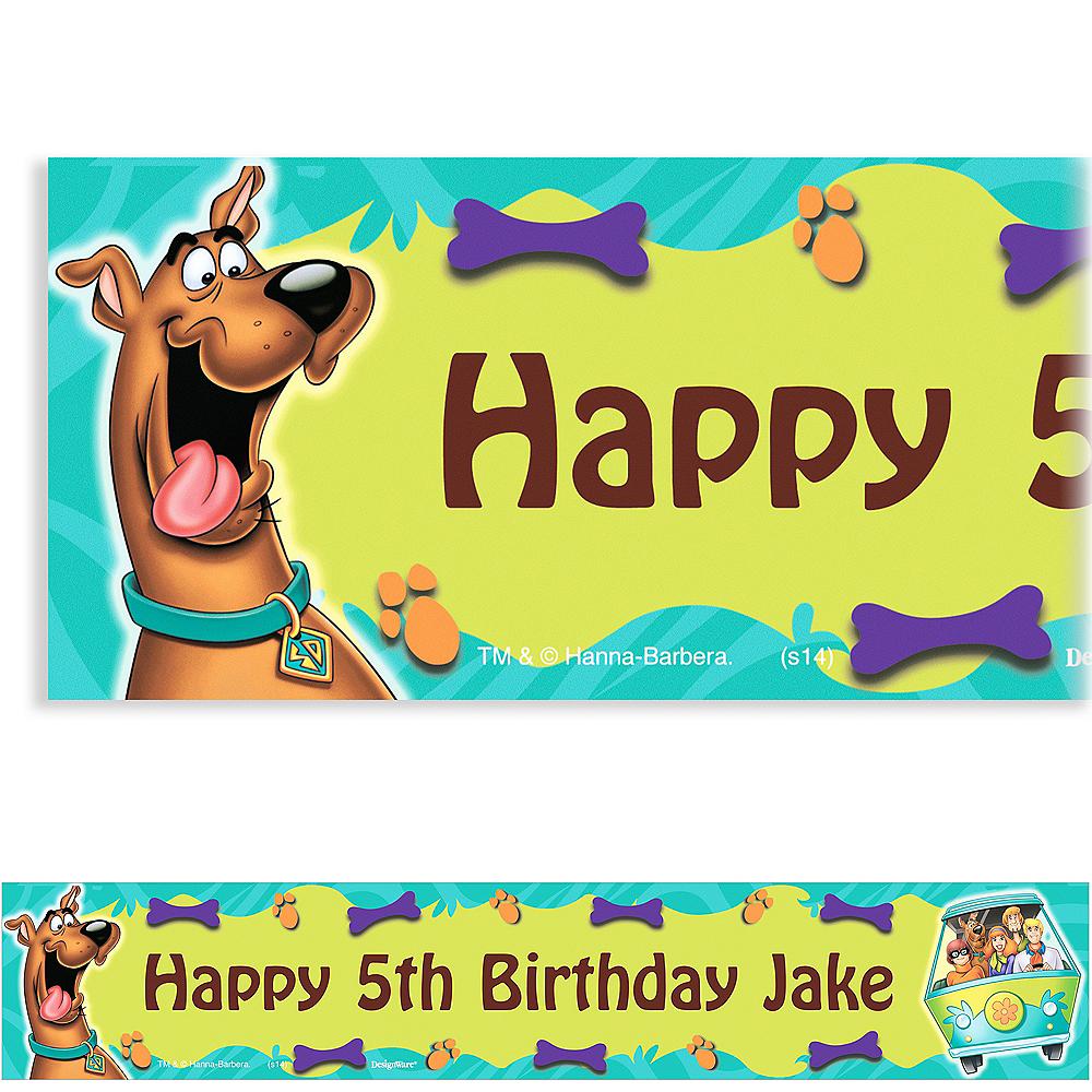 Scooby Doo Birthday Banner Custom Party Backdrop Decoration