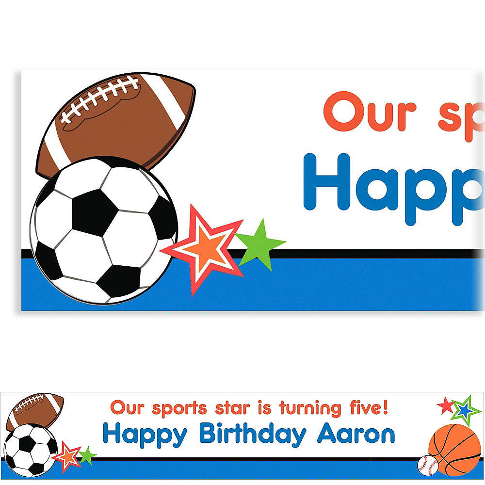 Custom Play Ball Party Banner 6ft Image #1