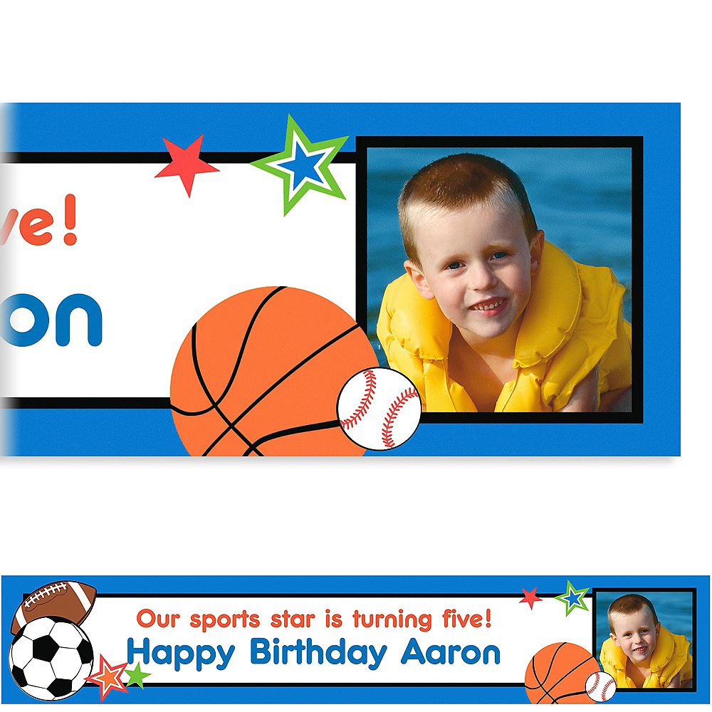 Custom Play Ball Party Photo Banner 6ft Image #1