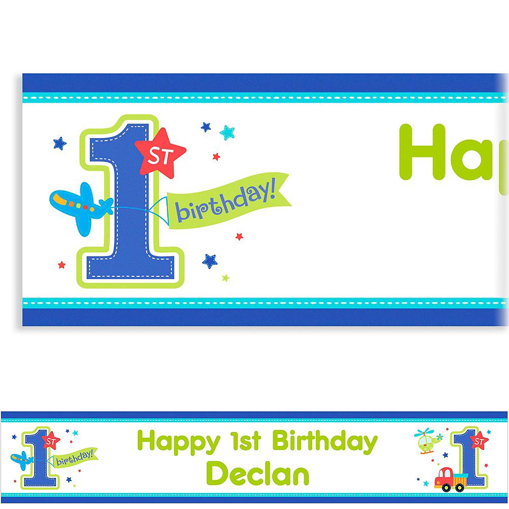 Custom All Aboard Birthday Banner 6ft Image #1