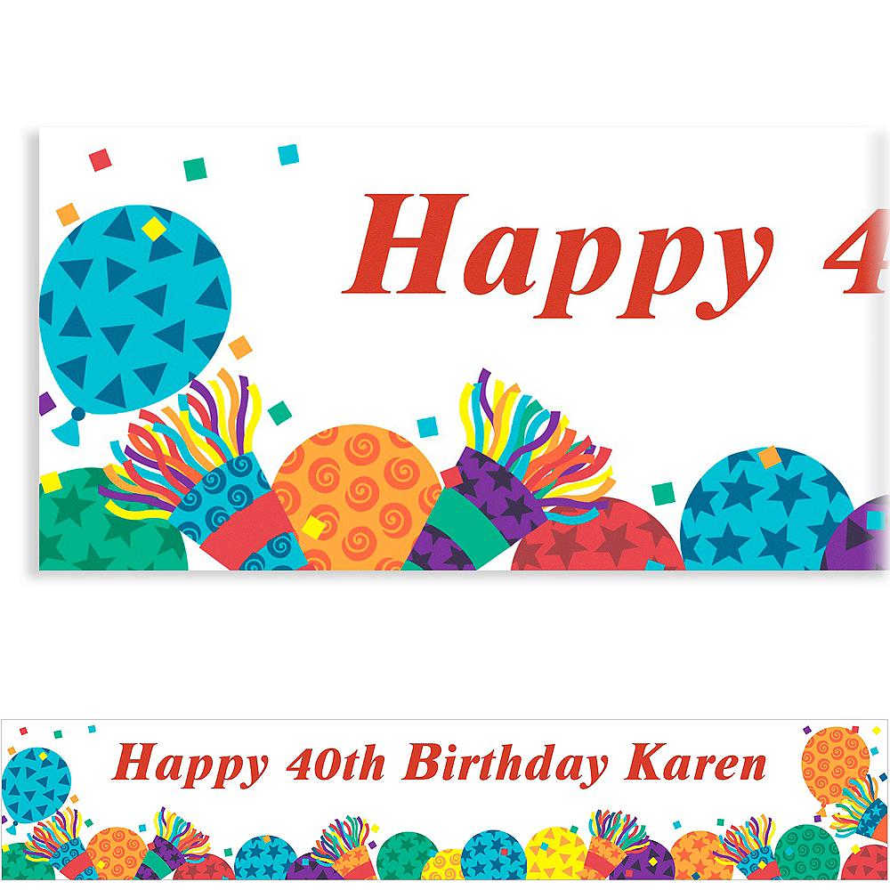 Custom Birthday Horns Banner 6ft Image #1