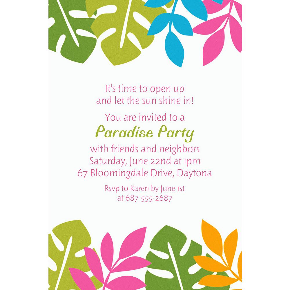 Custom Palm Leaf Invitations Image #1